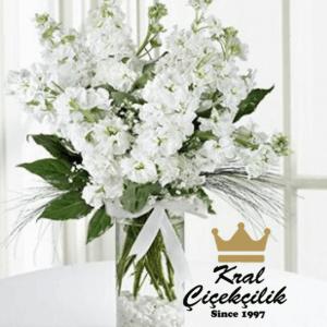 Şık cam vazoda şebboylar Kokulu Çiçek Sevenler İçin Mükemmel Bir Sunum ŞEBBOY ÇİÇEKLERİ *Çiçek Vazosu *Şebboy Taneleri *Kır Çiçekleri ve Kurdele